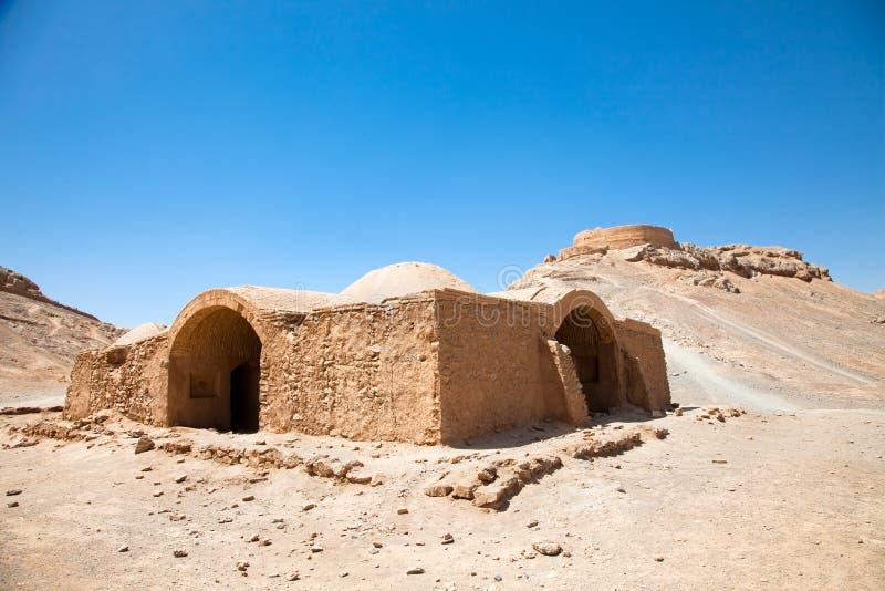 Ruines des tours de Zoroastrian de silence Yazd. l'Iran. photo libre de droits