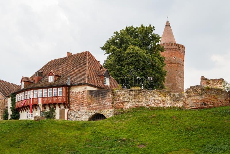 Ruines du Burg médiéval Stargard de château photos libres de droits
