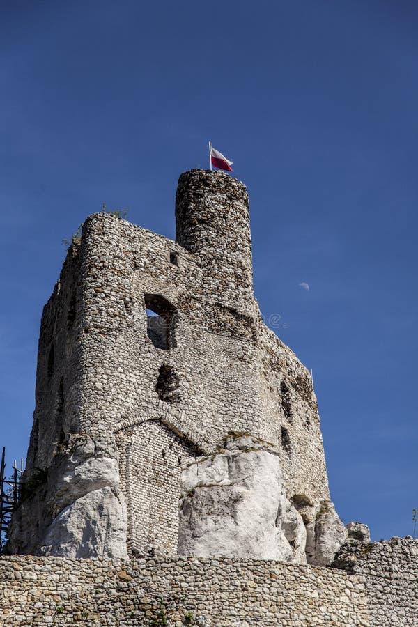 Ruines du château dans Mirow à côté de castel dans Bobolice photographie stock libre de droits