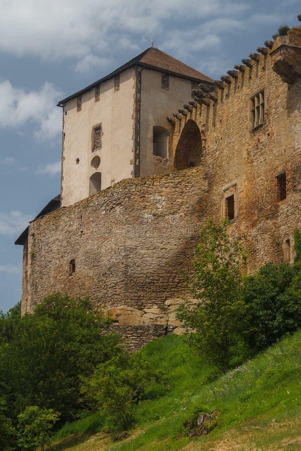 Ruines du château de Lipnice NAD Sazavou photographie stock