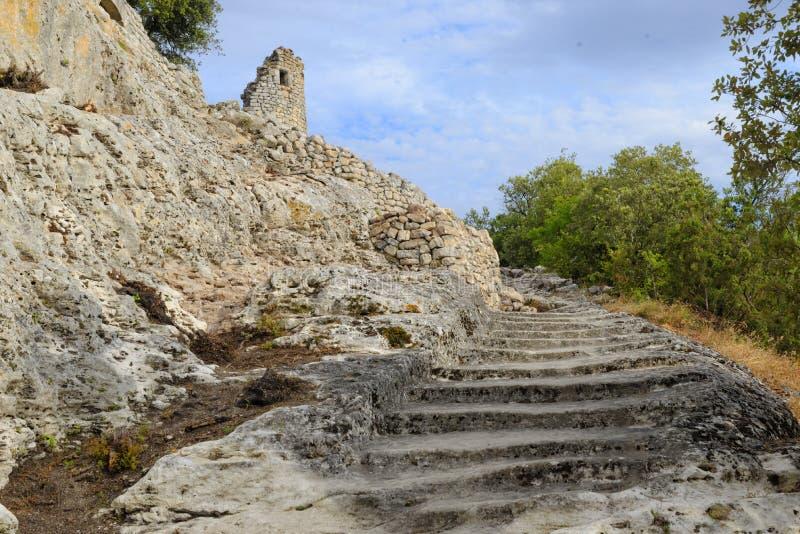 Ruines du fort de Buoux image stock