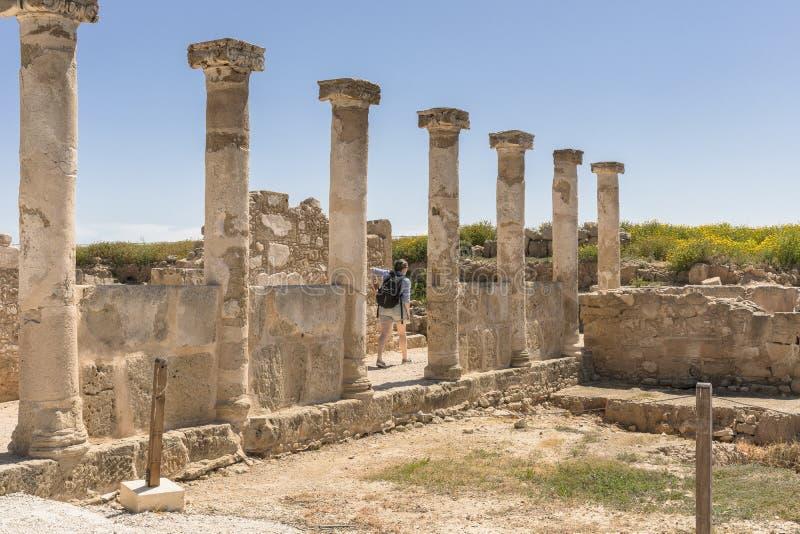 Ruines du grec ancien et de la ville romaine de Paphos image stock