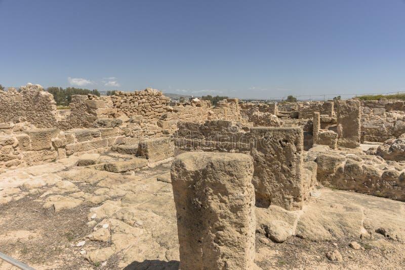 Ruines du grec ancien et de la ville romaine de Paphos photographie stock