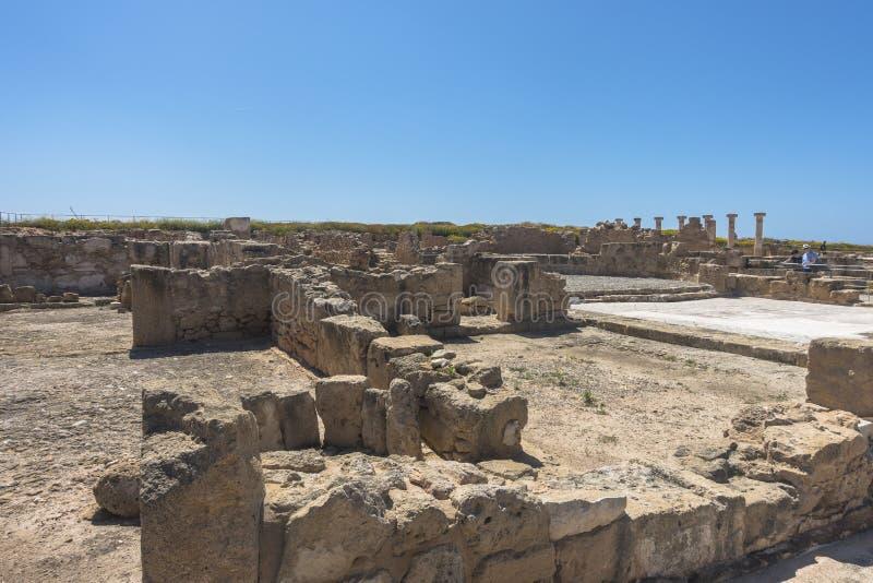 Ruines du grec ancien et de la ville romaine de Paphos Célèbre, images libres de droits
