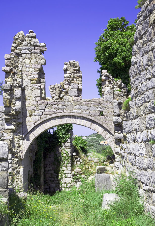 Ruines du vieux temple 2 photographie stock