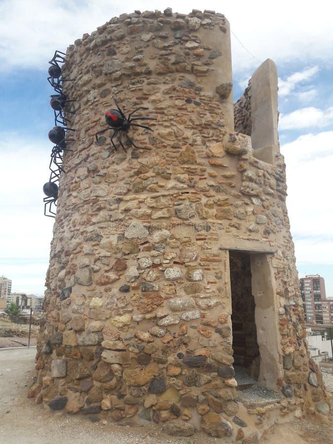 Ruines en pierre antiques de tour de Carthagène Espagne photographie stock libre de droits