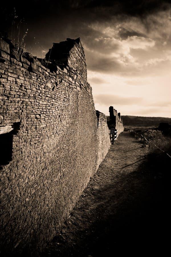 Ruines en stationnement de gorge de Chaco photographie stock