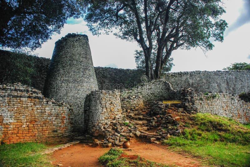 Ruines grandes du Zimbabwe photos libres de droits