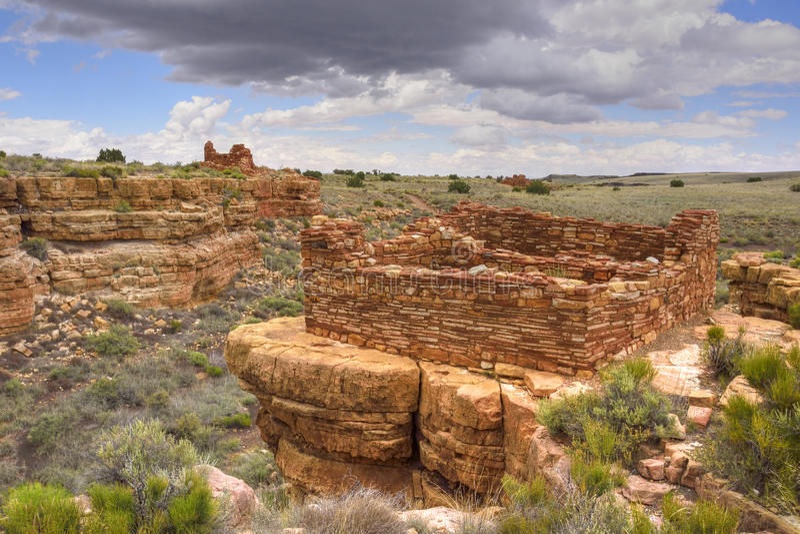 Ruines héréditaires de Puebloan photographie stock libre de droits