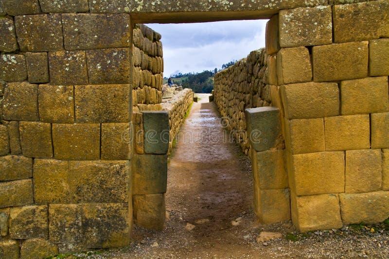 Ruines importantes d'Inca d'Ingapirca en Equateur image libre de droits