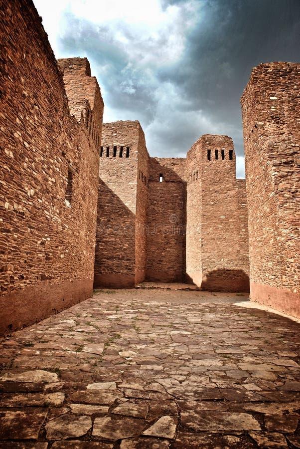 Ruines indiennes de pueblo au Nouveau Mexique images stock