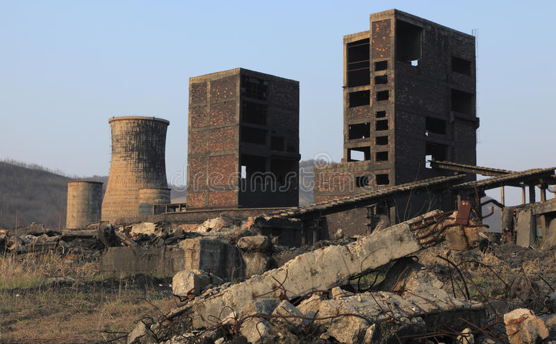 Ruines industrielles photos libres de droits