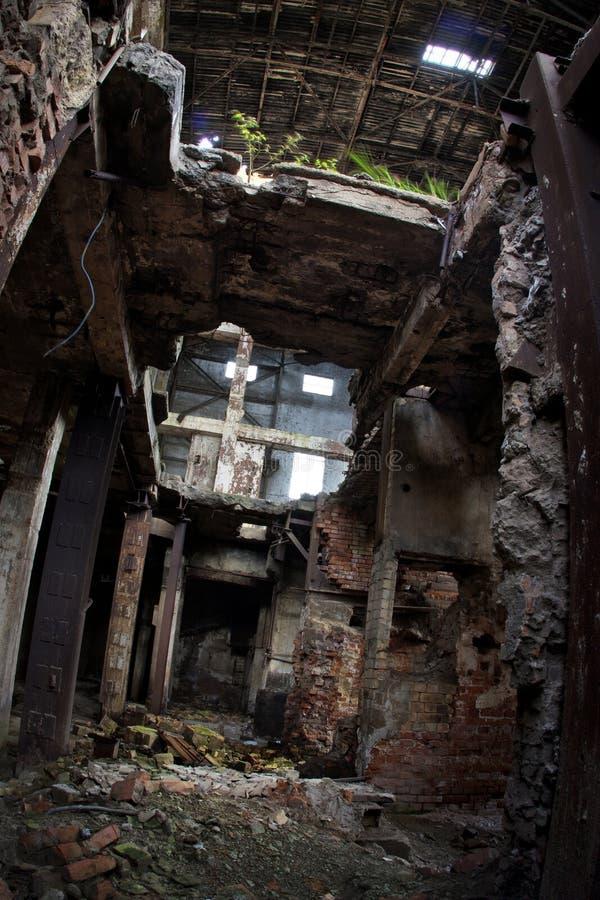 Ruines industrielles photographie stock libre de droits