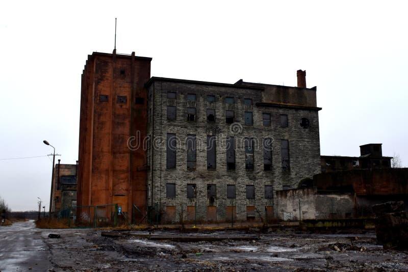 Ruines industrielles, héritage de l'URSS photos libres de droits