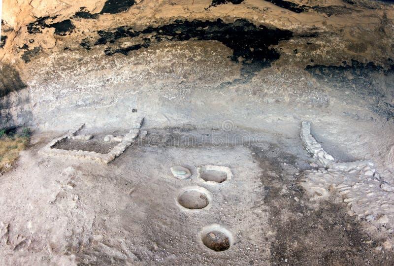 Ruines intérieures Gila Cliff Dwellings National Monument, nouveau Mexi image libre de droits