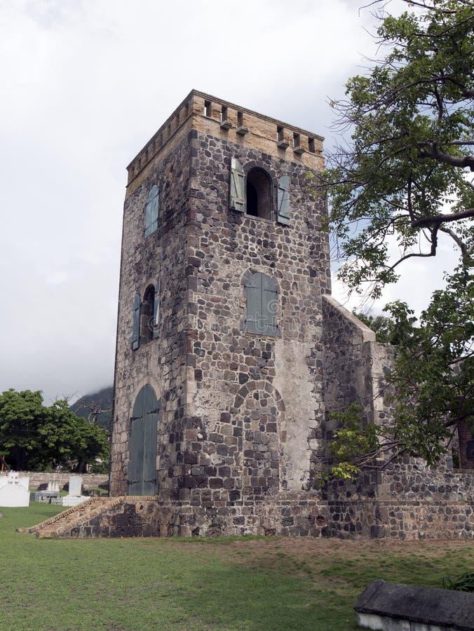 Ruines kościół w Statia zdjęcie royalty free