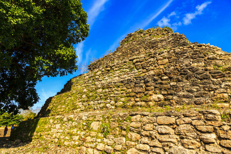 Ruines maya à Belize photo libre de droits