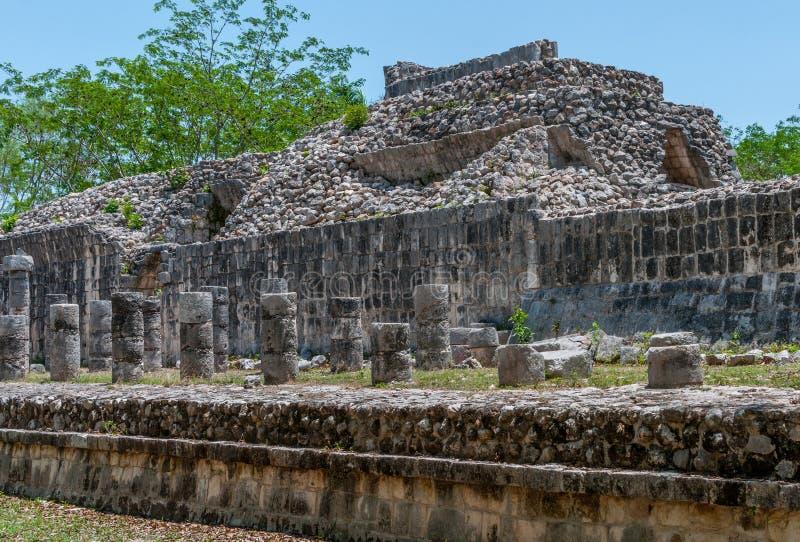 Ruines maya antiques chez Chichen Itza, Mexique photographie stock