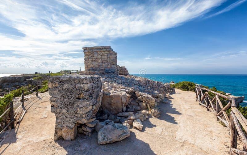 Ruines maya antiques sur Isla Mujeres photos libres de droits