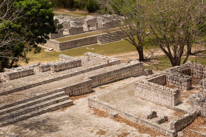 Ruines maya de bâtiment chez Edzna photo libre de droits