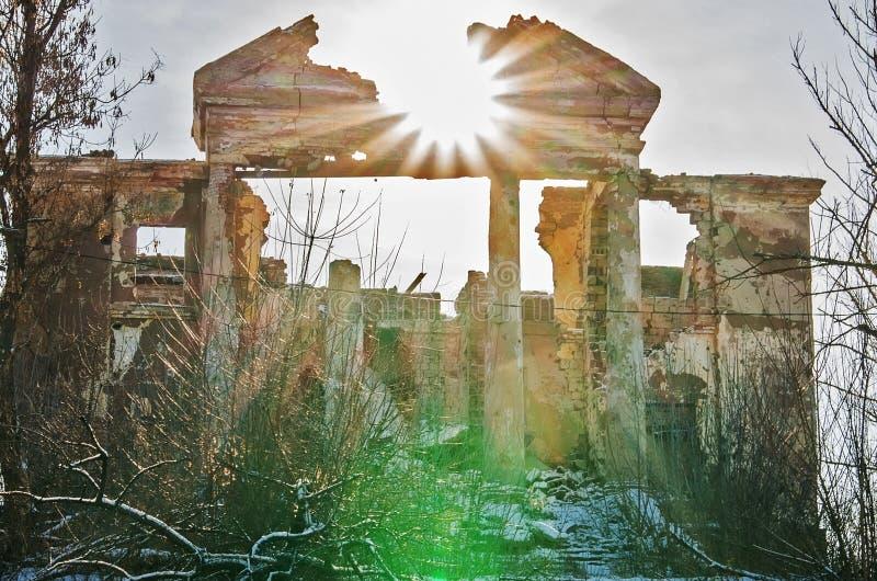 Ruines po ATO w Ukraina zdjęcie stock