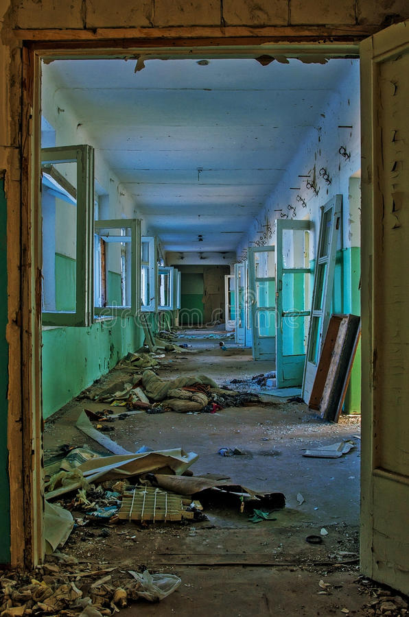 Ruines po ATO w Ukraina fotografia royalty free