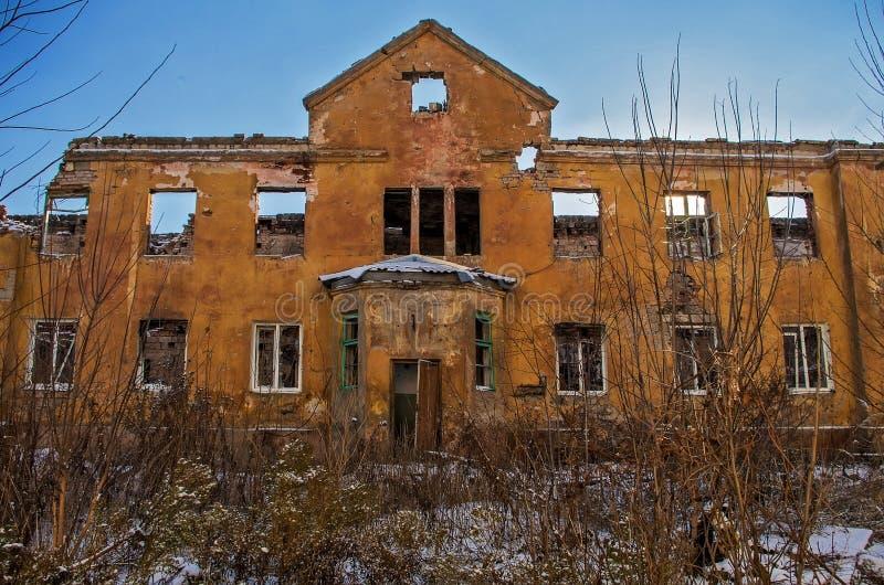 Ruines po ATO w Ukraina zdjęcia stock