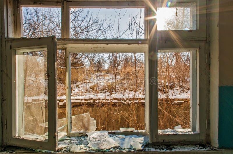 Ruines po ATO w Ukraina obraz royalty free