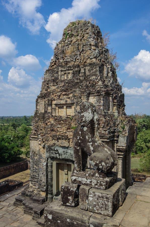 Ruines pré de Rup, un de temples antiques célèbres d'Angkor dans Cambod image stock