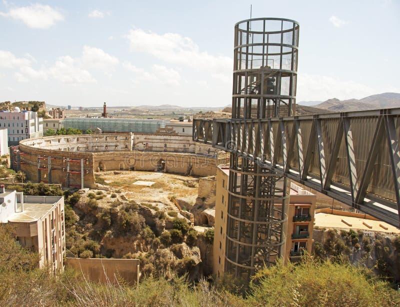 Ruines romaines à Carthagène photos libres de droits