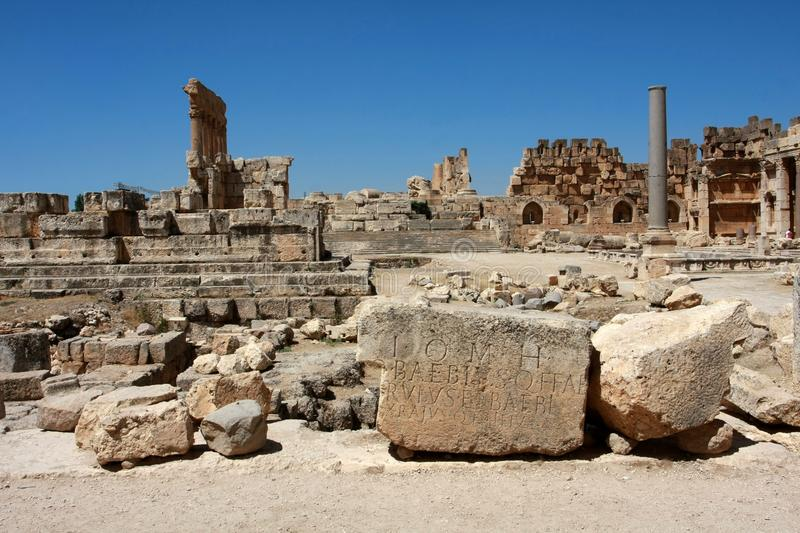 Ruines romaines photo stock