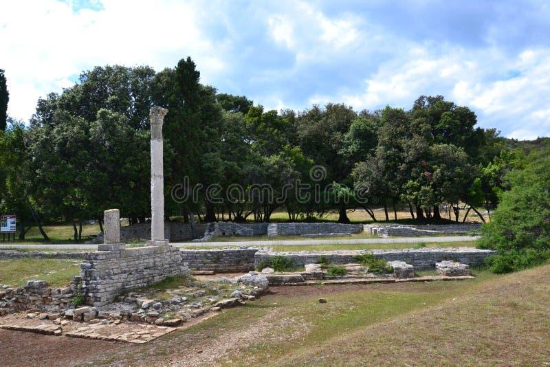 Ruines romaines antiques image stock