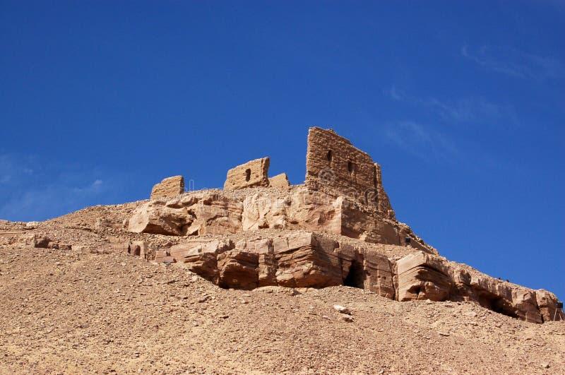 ruines romaines d'aswan images libres de droits