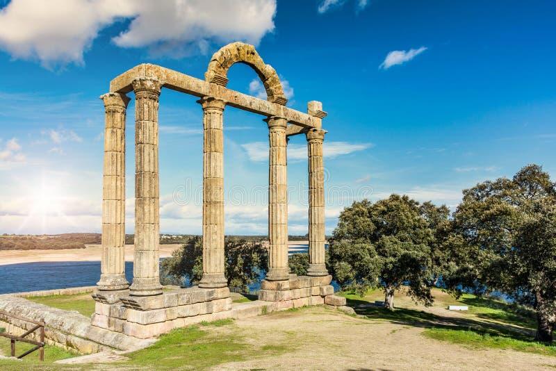 Ruines romaines d'Augustobriga, Caceres Estrémadure - Espagne photo stock