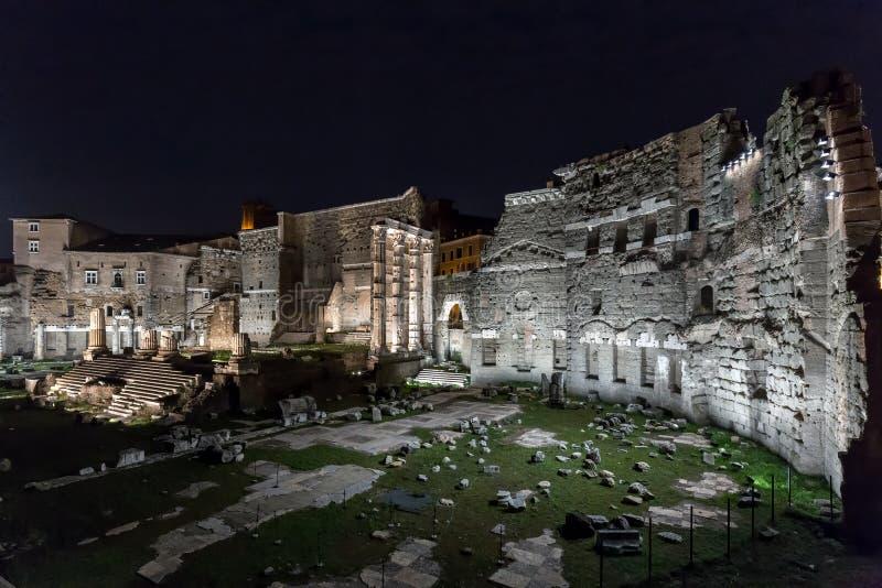 Ruines romaines de Foro di Augusto à Rome image libre de droits
