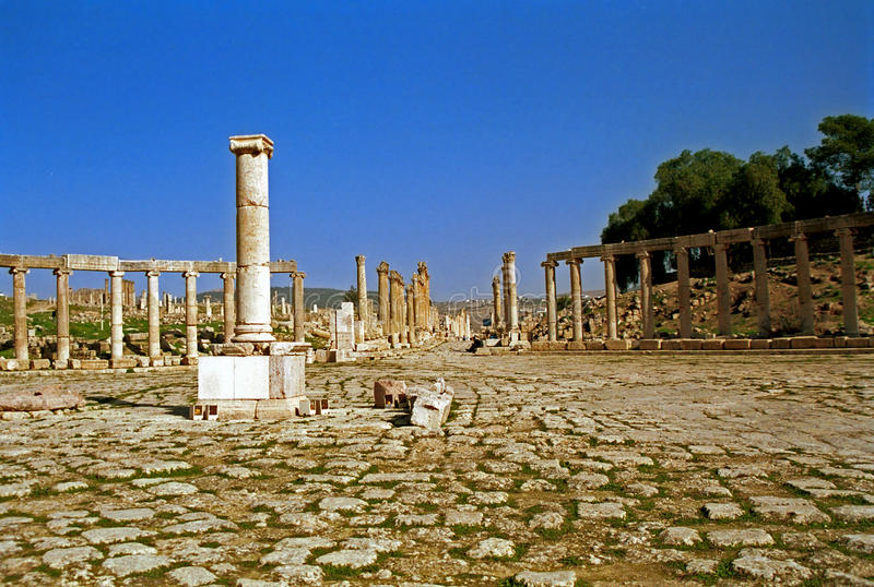 Ruines romaines de Gerasa, Jerash, Jordanie photo libre de droits