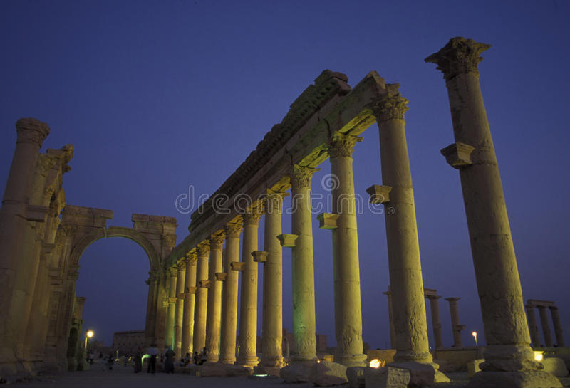 RUINES ROMAINES DE PALMYRA DE LA SYRIE photo libre de droits