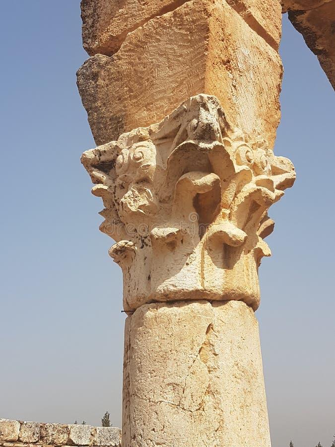 Ruines romaines Liban antique grec image stock