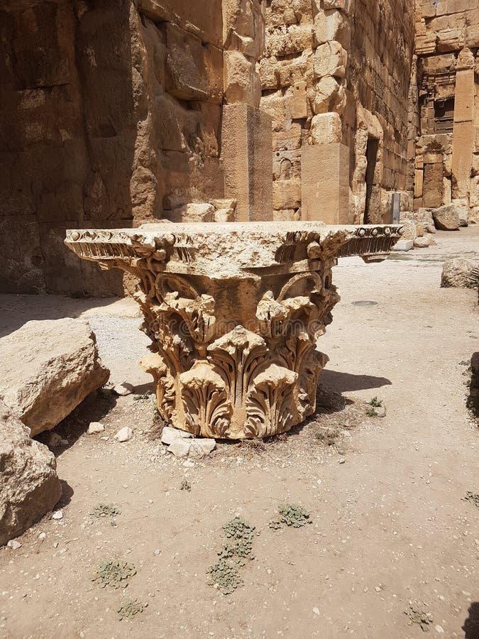 Ruines romaines Rome antique Moyen-Orient image stock