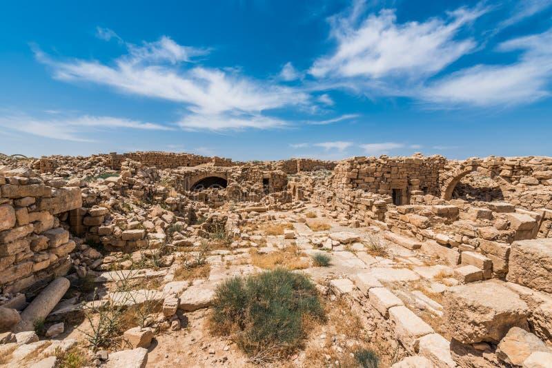 Ruines romaines, Um l'AR-Rasas, Jordanie photographie stock libre de droits
