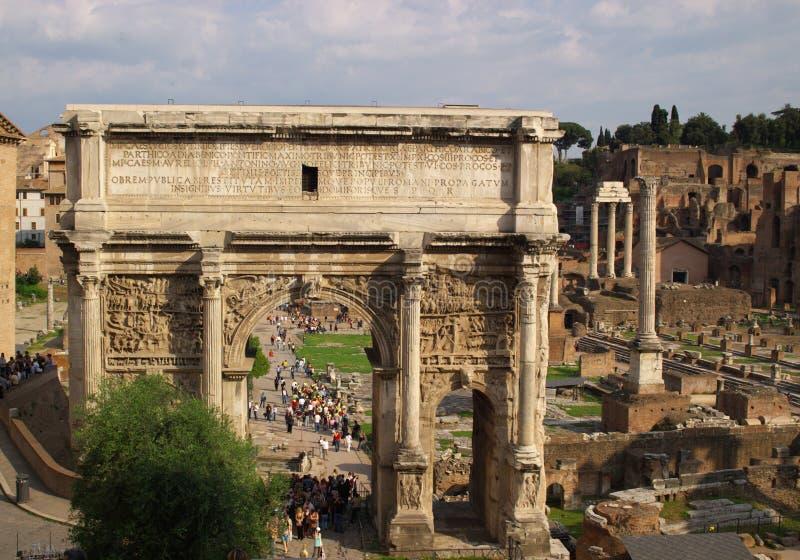 Ruines romanos antigos imagem de stock