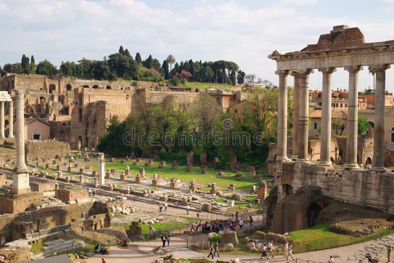 Ruines romanos antigos fotografia de stock