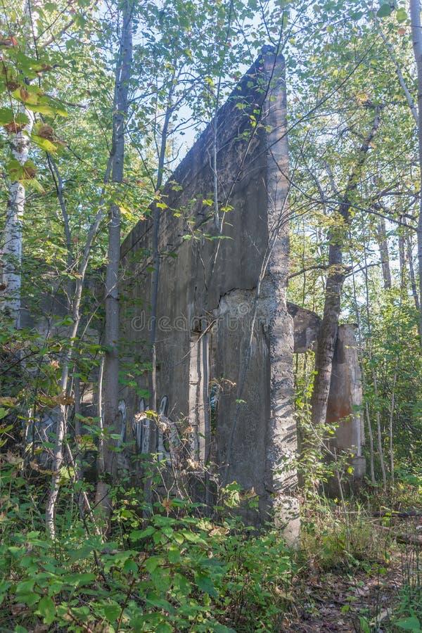 Ruines van Plan Bouchard Industrial Complex, Quebec, Canada stock afbeelding