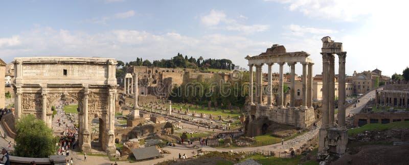 Ruinespanorama van Rome stock afbeeldingen