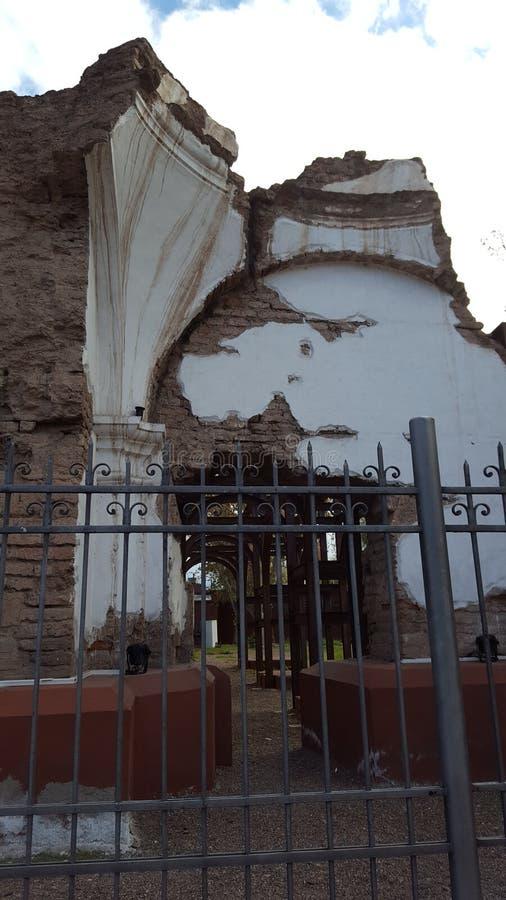 Ruiniert Kirche mendoza Stadt Argentinien-Geschichte von mendoza Wein stockfoto