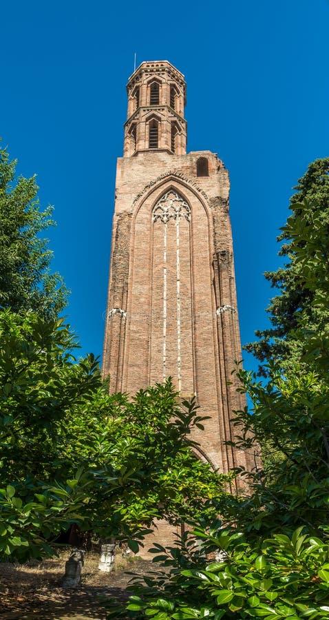 Ruiniert Kirche von Cordeliers in Toulouse - Frankreich lizenzfreies stockfoto