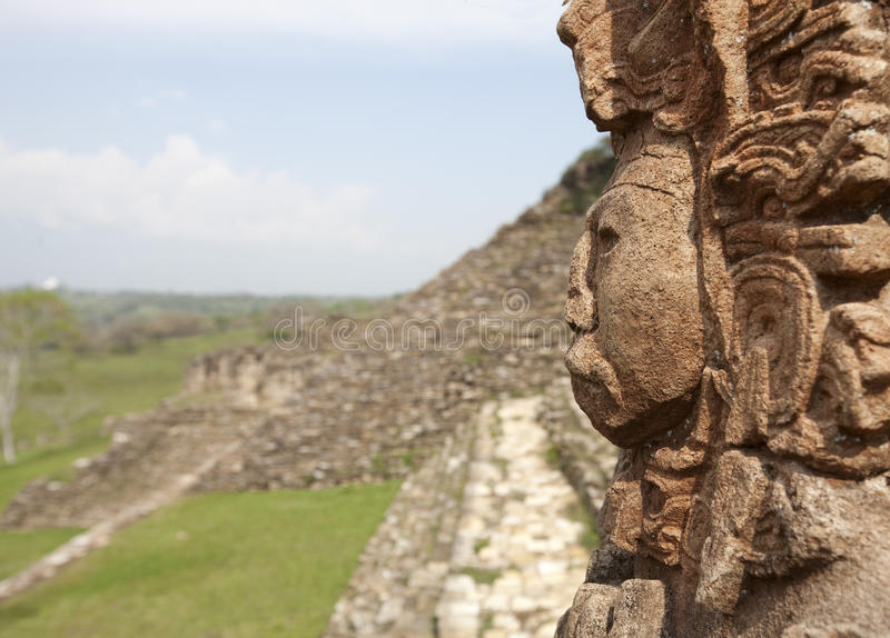 Ruiniert Maya stockbild