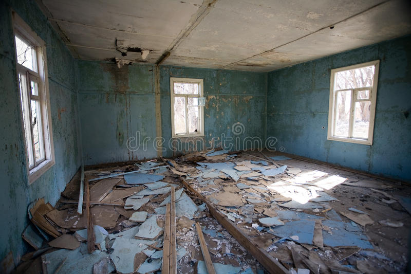 Ruinierter Raum stockbilder