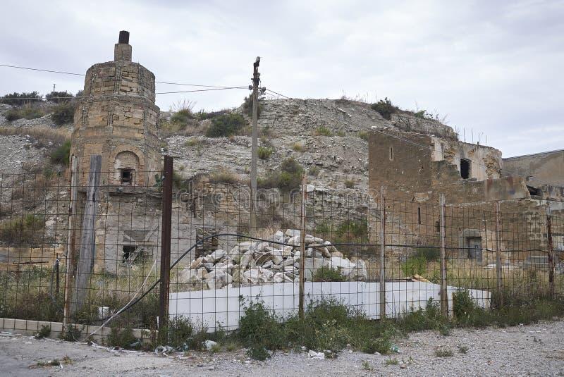 Ruiniertes Gebäude in den Endstationen Imerese lizenzfreies stockbild