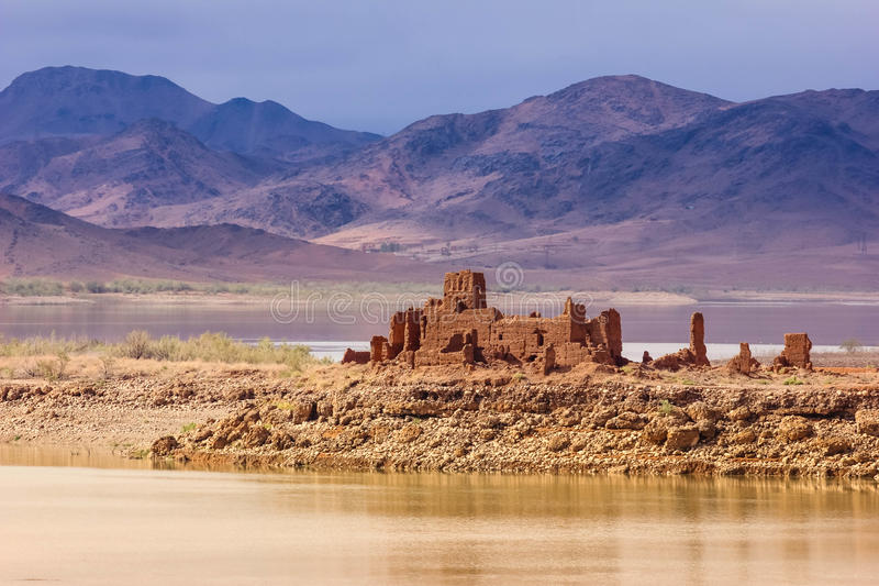 Ruiniertes Kasbah EL Mansour Eddahbi Ouarzazate marokko lizenzfreies stockfoto